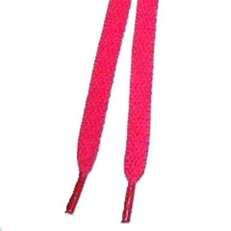 pink colour shoelaces bright coloured neon flat laces 100cm
