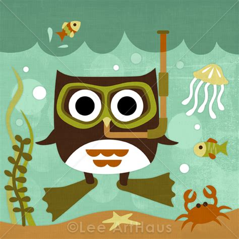 The Relax Premium Quality Bag Wd 990 66r retro scuba owl 6 x 6 print on luulla