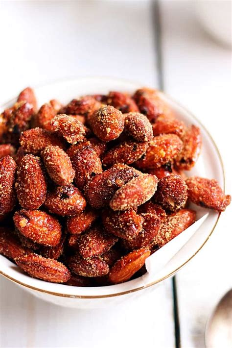 Oven Baked Nuts oven roasted honey chili almonds recipe