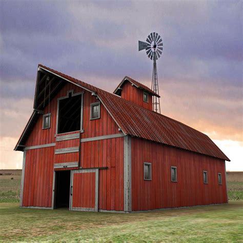 antigua granja granero rojo 3ds 3d imagenes png barn barns and farming