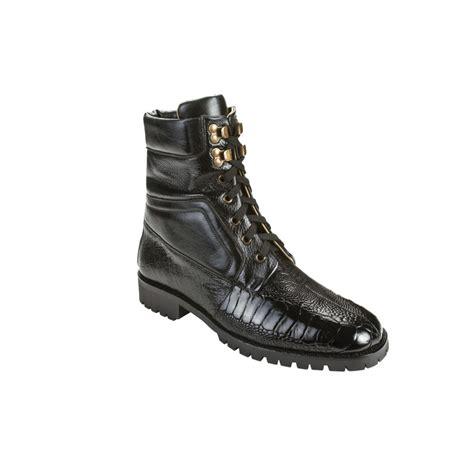 belvedere boots belvedere torre ostrich calfskin boots black