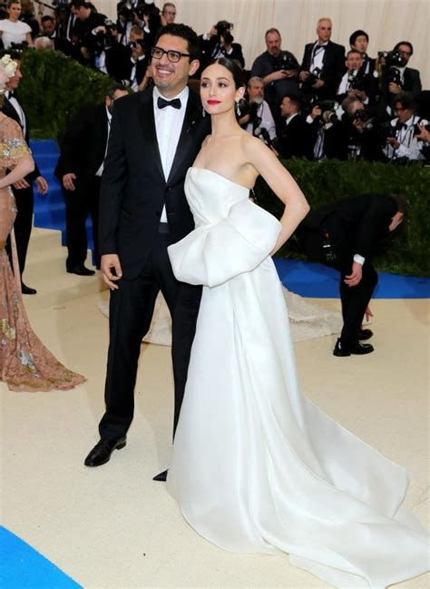 emmy rossum is married to emmy rossum weds mr robot creator sam esmail ny daily