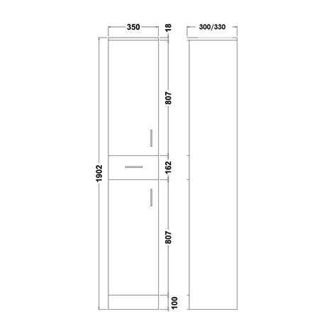 Bathroom Door Size by Vanity Unit Cupboard Cabinet Cloakroom Bathroom 350mm