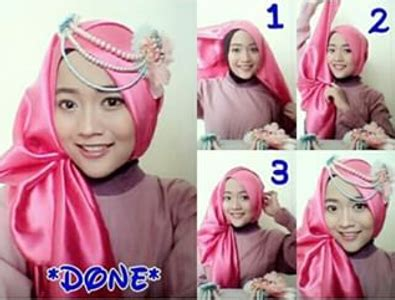 tutorial hijab ke pesta simple elegan busana muslim trendy tutorial hijab segiempat dari bahan