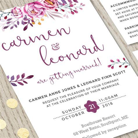 Wine  Ee  Wedding Ee    Ee  Invitation Ee   Set Hands In The Attic