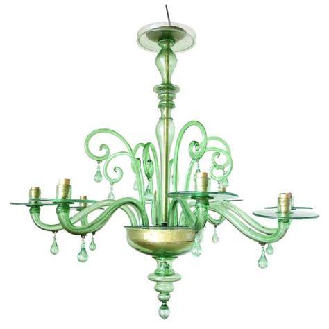Green Chandelier Emerald Green Murano Glass Chandelier By Venini At 1stdibs