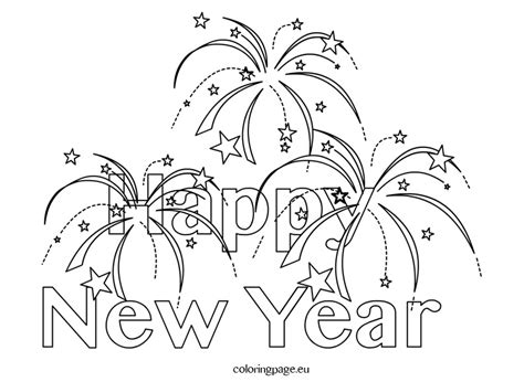 happy new year coloring pages happy new year 2015 printable coloring page search