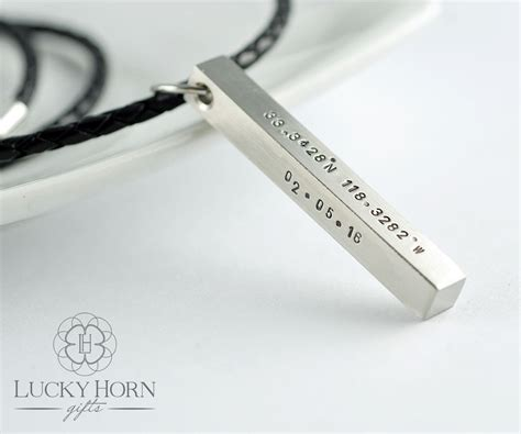 Mens Jewelry by Personalized Mens Necklace Mens Jewelry Sted Pendant