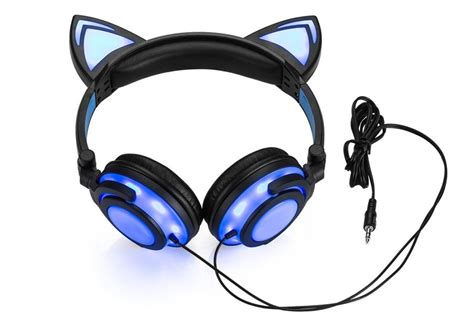 Light Up Cat Ear Headphones Mugwomp