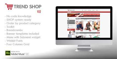 Adobe Muse Ecommerce Templates 20 Best Ecommerce Adobe Muse Templates Tutorial Zone