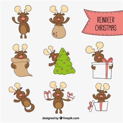 imagenes navidad caricaturas caricaturas de renos de navidad descargar vectores gratis