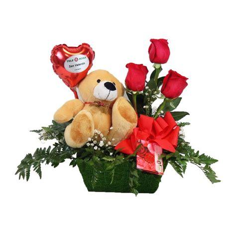imagenes de rosas y peluches trio de rosas rojas con peluche para mandar a domicilio