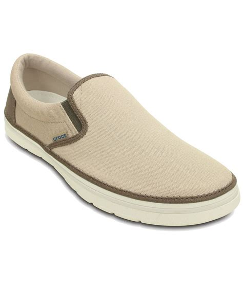 crocs relaxed fit beige canvas shoes price in india buy