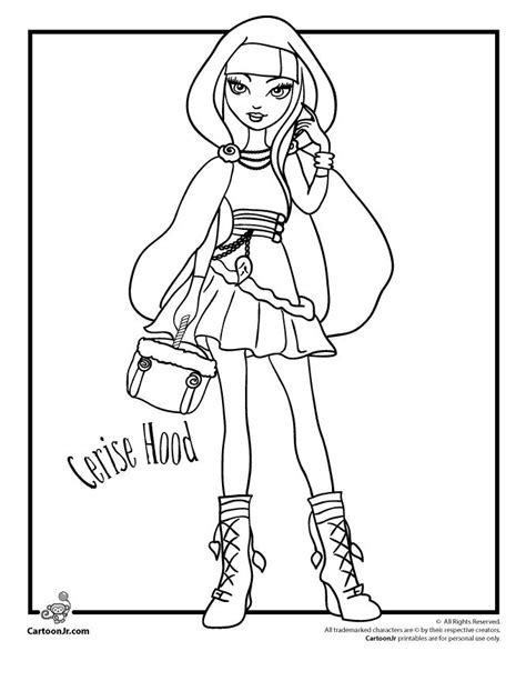 monster high coloring pages cartoon jr ever after high coloring pages ever after high cerise
