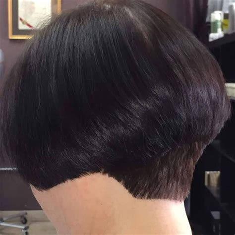 short stacked bob haircut shaved 130 best neck line images on pinterest bob hairs bobs
