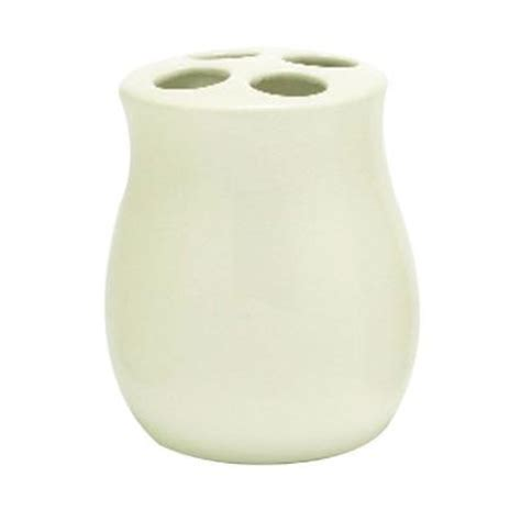 innova waterford ceramic toothbrush holder in white ct