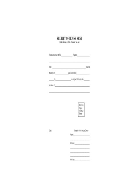 rental receipt form 3 free templates in pdf word excel
