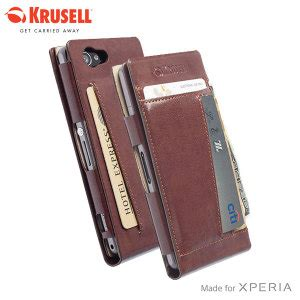 Krusell Kalmar Wallet Sony Xperia T3 krusell kalmar sony xperia z1 compact wallet brown