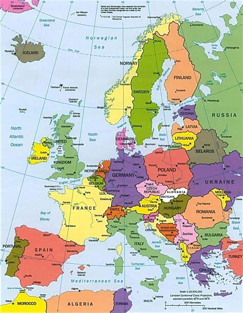 maps de europa clima de europa mapa
