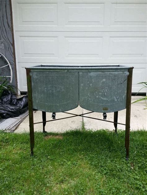 galvanized laundry sink with stand double wash tub with stand befon for