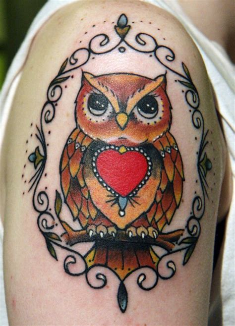 colorful owl tattoos 40 colorful owl tattoos collection