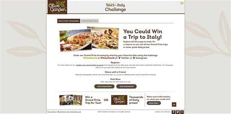 Olive Garden Sweepstakes 2017 - italianfanfavorite com olive garden culinary tours of italy sweepstakes