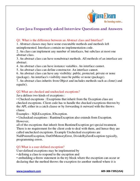 frequently asked q a in java java programming the books java frequently asked questions and answers