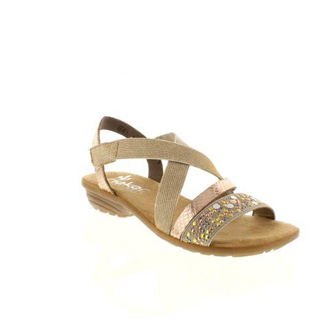 reiker sandals rieker v3463 60 beige slip on sandals rieker