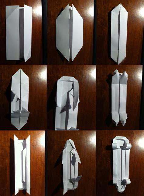 How To Make A Paper Skateboard - 203 skateboard setting the crease