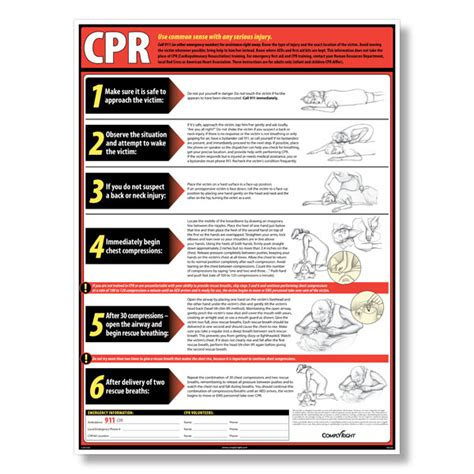 printable cpr instructions 2015 8 best images of printable cpr chart free printable cpr