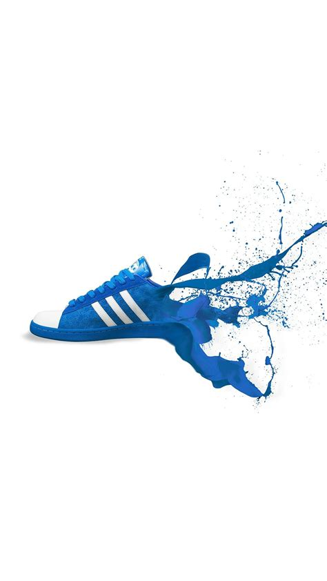 adidas blue shoes sneakers logo art iphone   wallpaper iphone  wallpapers