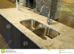 How To Measure A Kitchen Sink - modern kitchen sink with granite counter top stock photo image 41185523