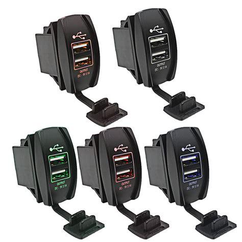 Charger Motor Hk 3 Port5 Conector 7 In 1 Usb Casan K Murah 1 r1b1 waterproof 12v 24v 3 1a dual usb charger socket charging port with led work light for