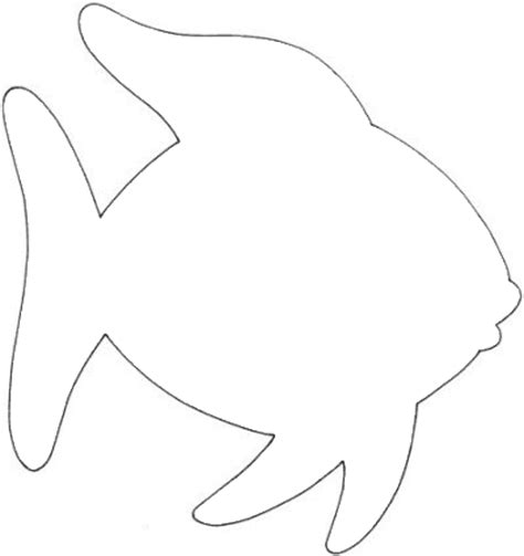 Rainbow Fish Outline Page by Octopus Outline Cliparts Co