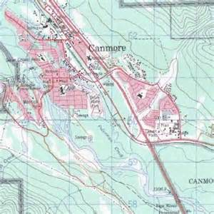 canmore topo map