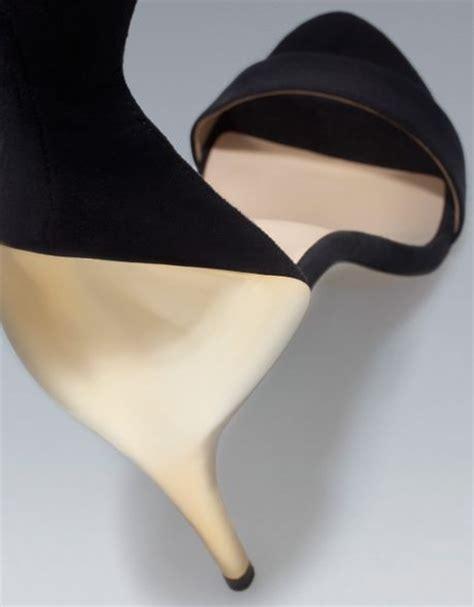 Heels Combi Gold zara combination high heel sandal in gold black lyst