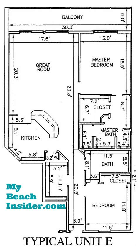 2 bedroom unit floor plans calypso panama city floor plans gurus floor
