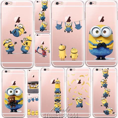 Minion Despicable Me For Iphone 5 5s Tipe B Limited despicable me yellow minion design cover sofe minions for iphone 6 6s 5 5s se 7 plus