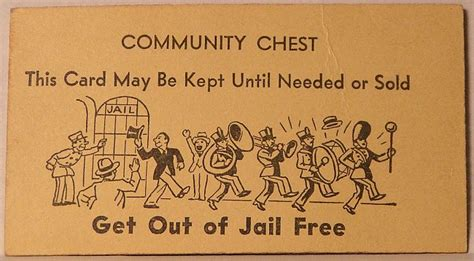 get out of free card monopoly template monopoly illustration chance community chest cards