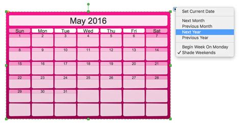 software to make calendars creating the custom calendar using business diagramming
