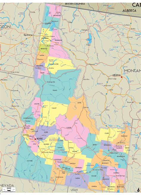 idaho map with cities political map of idaho ezilon maps