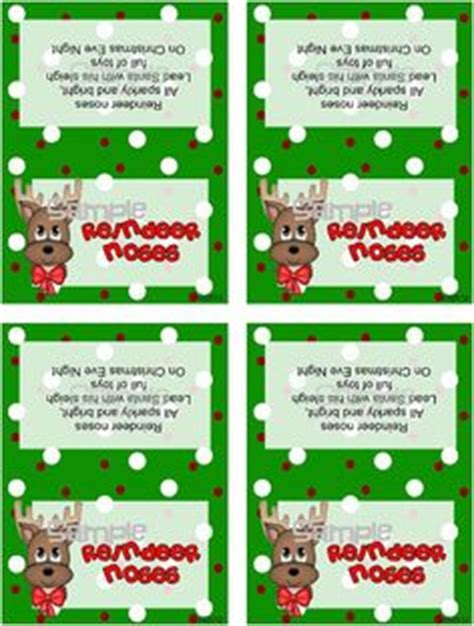 printable reindeer noses labels 7 best images of things christmas printable christmas