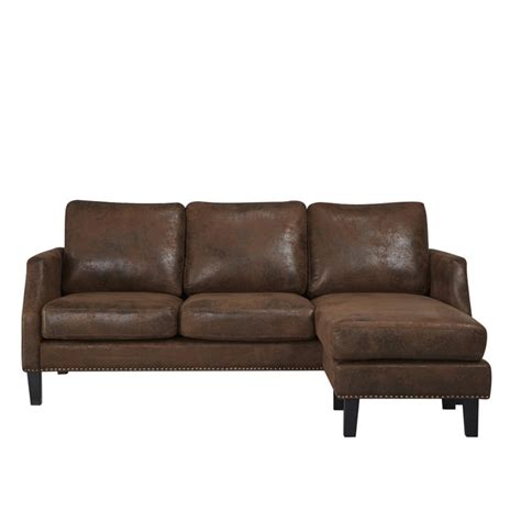 franklin sectionals abbyson living franklin reversible sectional in dark brown
