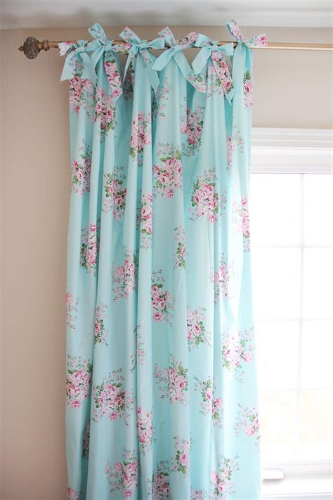 roses curtains beautiful shabby chic curtain