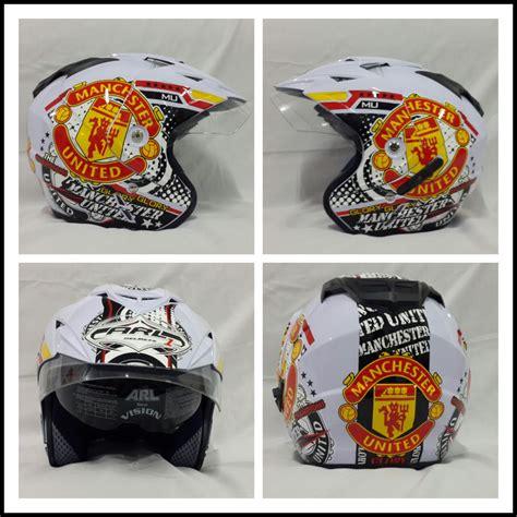 Helm Bola Ac Milan Merah jual helm motif club bola www dizlees