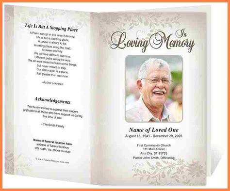 memorial service templates free 5 free memorial service program template cv template