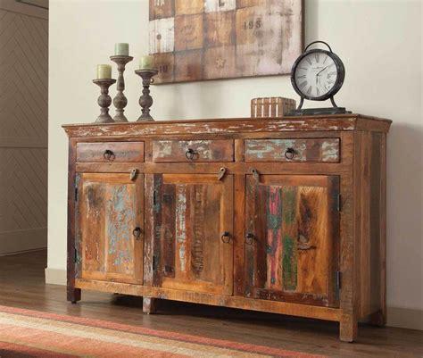 Kitchen Hutch Furniture Artsy Amp Rustic Reclaimed Wood Finish Three Door Cabinet