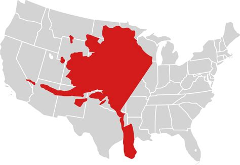 alaska map compared to us file alaska compared to lower 48 svg wikimedia commons