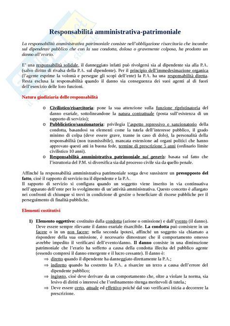 dispensa diritto amministrativo responsabilit 224 amministrativa patrimoniale appunti di diritto