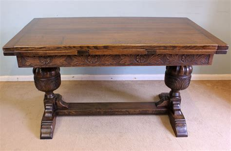 Farmhouse Dining Table With Leaves Antique Refectory Draw Leaf Farmhouse Dining Table 341578 Sellingantiques Co Uk